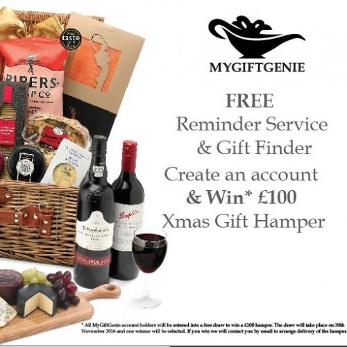Win a luxury Gift Hamper - Create a FREE MyGiftGenie account by 30 Nov 2016