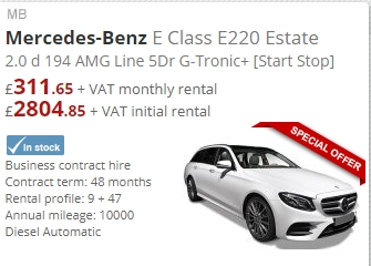 Mercedes-Benz E Class E220 Estate 2.0 194 AMG Line 5Dr G-Tronic+ [Start Stop]