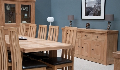 French Bordeaux Oak Dining and Living Room Furniture