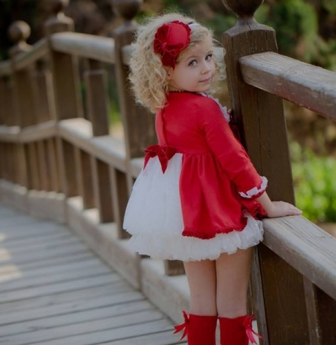 Belcoquet Red & Cream Dress