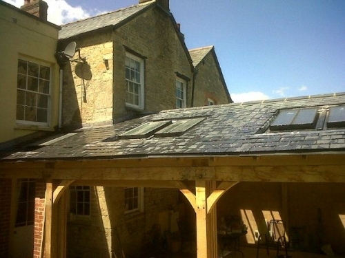 Slate Roof with Windows