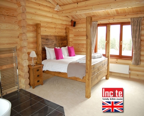 Rustic Plank Four Poster Bed Handmade to order By Incite Interiors...no premium for bespoke sizes
