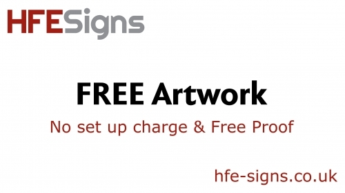 Free Design - No charge for design set up and proofs