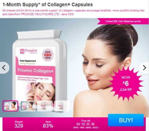 1-Month Supply Of Collagen+ Capsules.