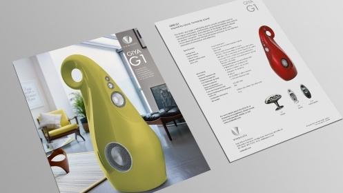 Vivid Audio branding