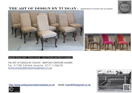 Bespoke dining Chairs designed and produced by  www.bespokefurnituremakers.company