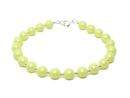 Mother Bride Wedding Jewellery With Pastel Lemon Swarovski Pearls