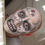 Zombie face painting