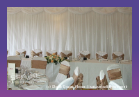 Wall draping using led star cloths and top swags