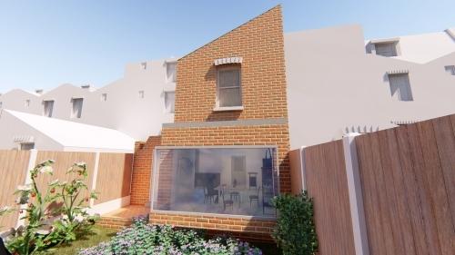Basement Extension Lightwells Rear Side Infill Extension Mansard Roof Extension Rear Garden View