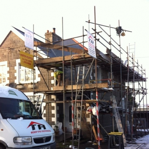 Under going complete slate roof renovation