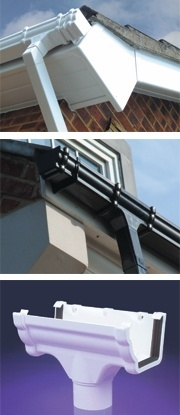 Black Ogee Gutter And Down Pipe