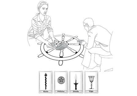 Tarot cards and radiesthesy reading