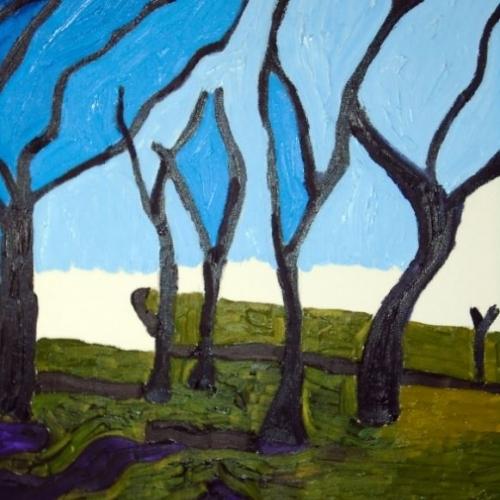 Sunday walk. Oil on canvas. 50cm x 61 cm 210
