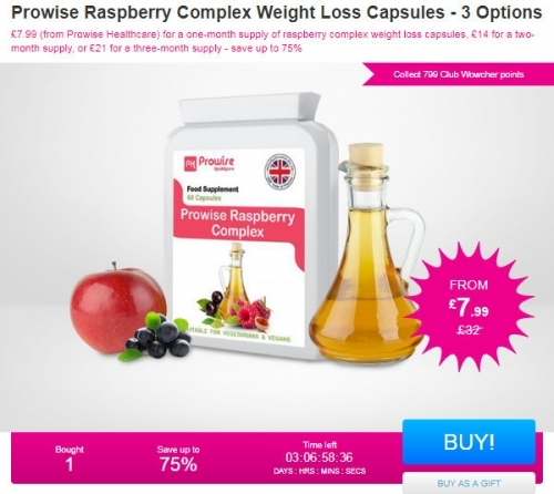 Prowise Raspberry Complex Weight Loss Capsules - 3 Options.