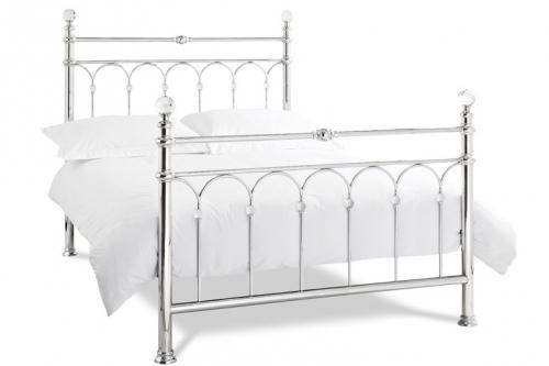 Bentley Krystal Bed in Shiny Nickel