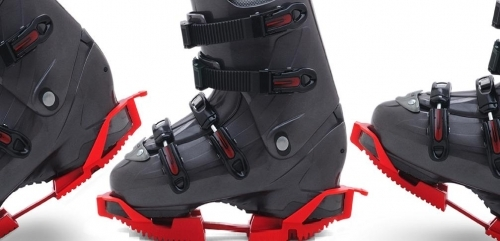 Protect your ski boot sole and walk easier with Skiskooty from ICEGRIPPER
