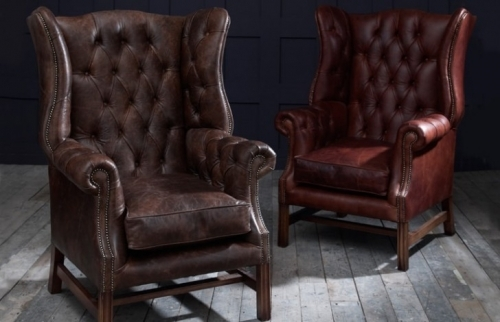 Manchester Vintage Leather Fireside Armchair