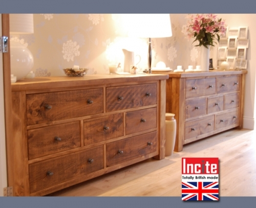 Chunky Plank Drawer Chests handmade to order in Derbyshire by Incite Interiors