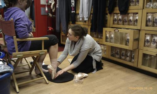 Pointe Shoe Fitting 2014
