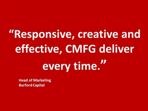 Burford Finance CMFG Testimonial - Head of Marketing