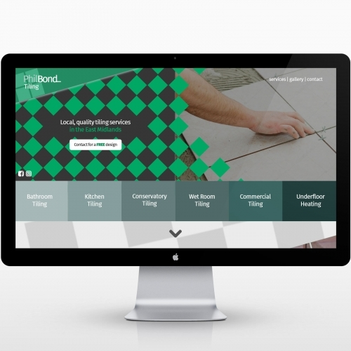 Phil Bond Tiling website designer homepage