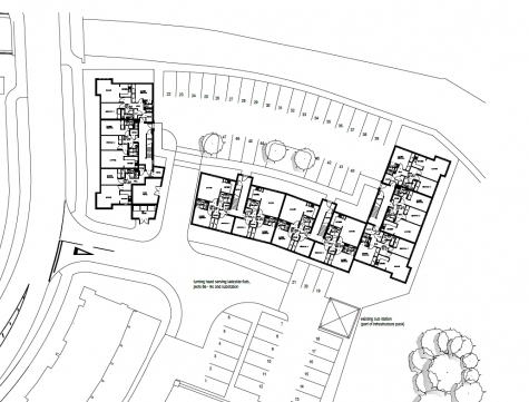 Cad Plan of a Residential Housing Scheme in Aberdeen