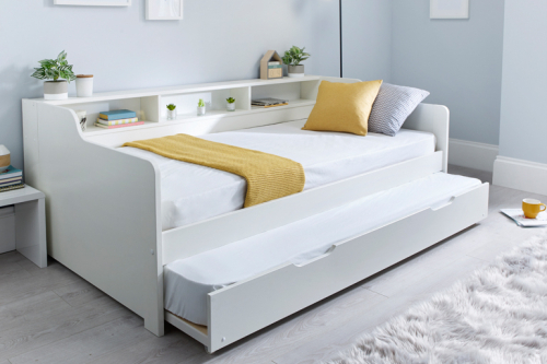 Love Sleep Bertie Day Bed with Trundle in White