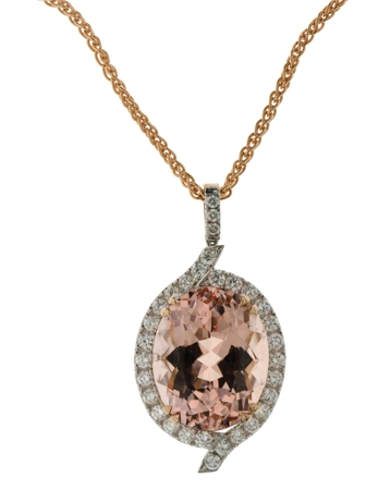Morganite and Diamond Pendant (01 13 414)