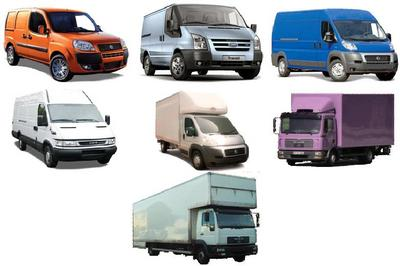 Many types of vehicles to hire: Trucks, escort, short wheel base , long wheel base and Lutons