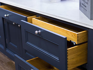 Edwardian kitchen drawers