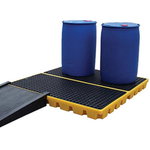 4 Drum Diesel Bund Polyethylene Flooring