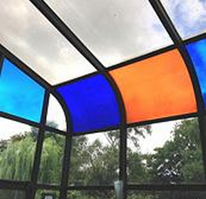Transparent coloured window films