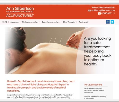 Ann Gilbertson, Acupuncturist, Liverpool
