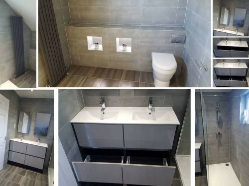 Double Drawer And Double Basins