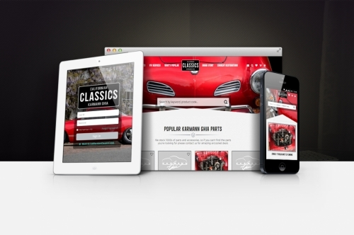 Californian Classics award winning, retro vintage, ecommerce vintage air-cooled car parts order website by signature image consultants