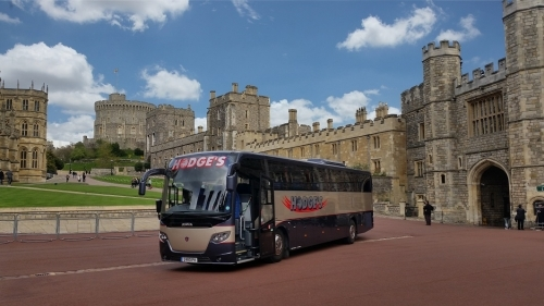 One of our luxury vehicles inside Windsor Castle.