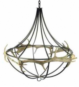 wrought iron Faux Antler Chandelier. By Parlane.