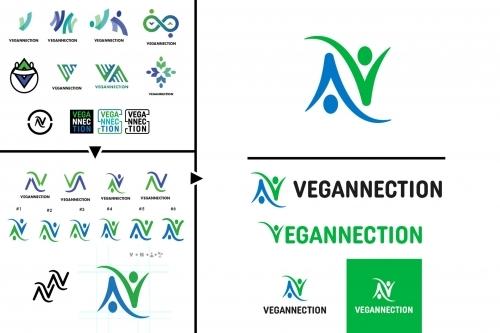 Vegannection Logo Design Process