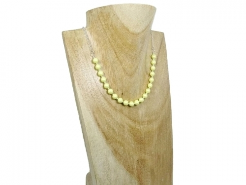 Pastel Yellow Pearls Necklace