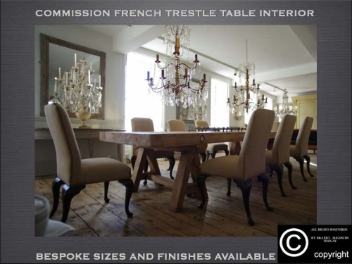 Bespoke dining table, dining chairs, chandeliers, mirrors examples many variations available.www.bespokefurnituremakers.company