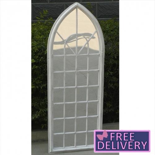 Gl Mir 10 Bentley Garden Trellis Arch Mirror White 784