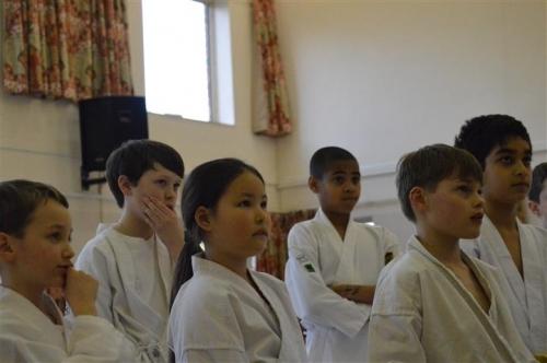 Children watching demonstration